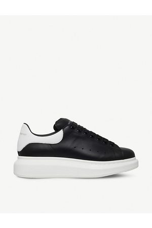 Alexander McQueen Mens and Show Leather Platform Sneakers