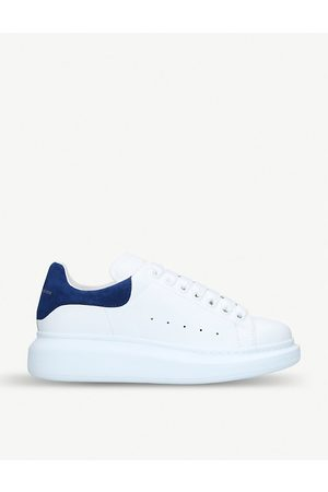 Alexander McQueen And Navy Runway Leather Sneakers