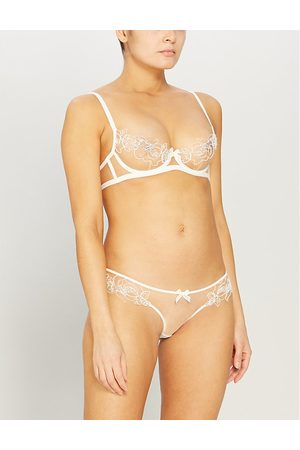 Agent Provocateur Lindie underwired embroidered floral mesh bra