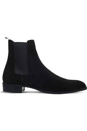 Saint Laurent Men Chelsea Boots - Wyatt suede Chelsea boots