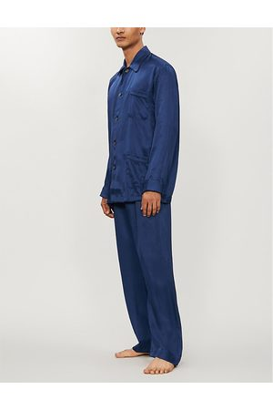 DEREK ROSE Woburn silk-satin pyjama set