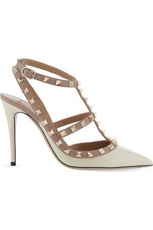 VALENTINO GARAVANI Rockstud 100 patent-leather courts, Women's, Size: EUR 42/ 9 UK, Champagne