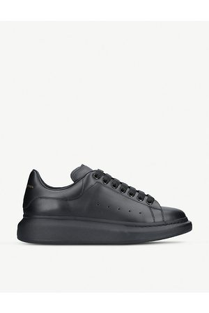 Alexander McQueen Mens Show Leather Platform Sneakers