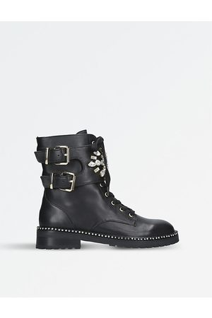 Kurt Geiger Stoop leather biker boots