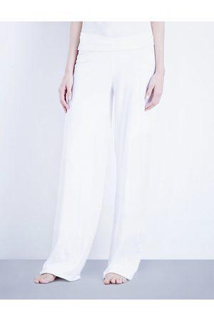 SKIN Double-layer pima-cotton jersey pyjama bottoms