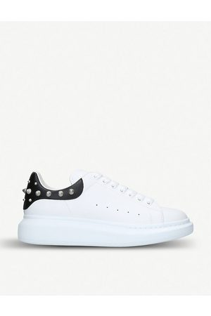 Alexander McQueen Mens Show leather trainer