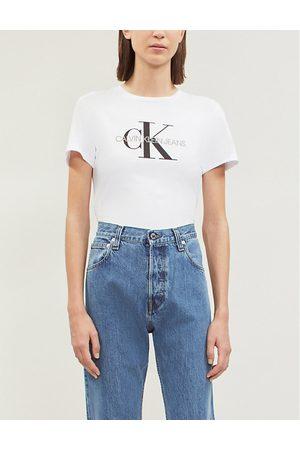Calvin Klein Logo-print stretch-cotton T-shirt