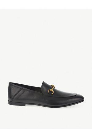 Gucci Brixton leather slide moccasins, Mens, Size: EUR 40 / 6 UK