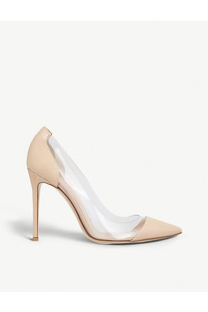 Gianvito Rossi Plexi 105 patent-leather courts