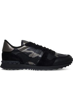 VALENTINO GARAVANI Mens Com Leather Camouflage Sneakers, Size: 5