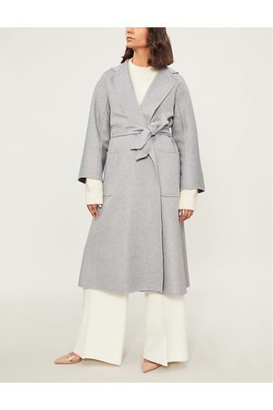 Max Mara Women's Light Grey Labbro Cashmere Coat