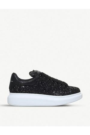 Alexander McQueen Runway leather and glitter trainers