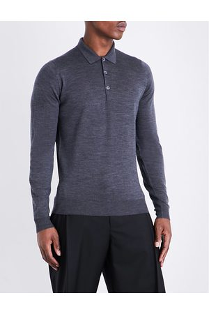 JOHN SMEDLEY Men Polo Shirts - Belper knitted polo jumper