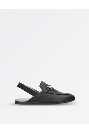 Gucci Princetown leather slingback loafers 4-8 years