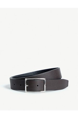 Anderson's Grained leather reversible belt