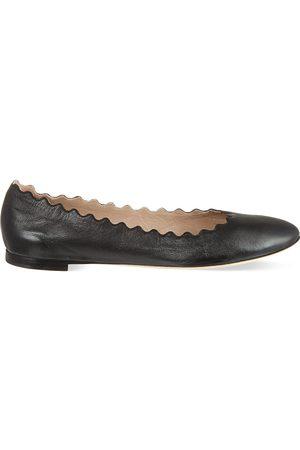 Chloé Scallop leather ballet flats