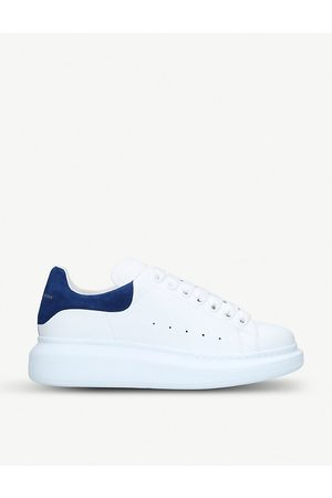 Alexander McQueen Navy Runway Leather Suede Platform Sneakers