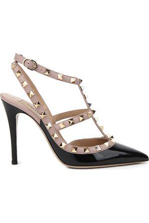 VALENTINO GARAVANI Valentino Rockstud 100 leather courts, Women's, Size: EUR 37 / 4 UK WOMEN, Blk/