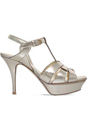 Saint Laurent Tribute 75 metallic patent-leather sandals