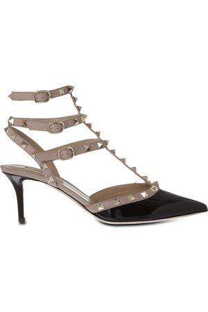 VALENTINO GARAVANI Valentino So Noir 65 patent-leather heeled sandals, Women's, Size: EUR 35 / 2 UK, Blk/