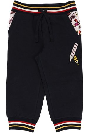 Dolce & Gabbana Pencil Print Cotton Sweatpants