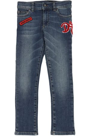 Dolce & Gabbana Stretch Cotton Jeans W/ Patch