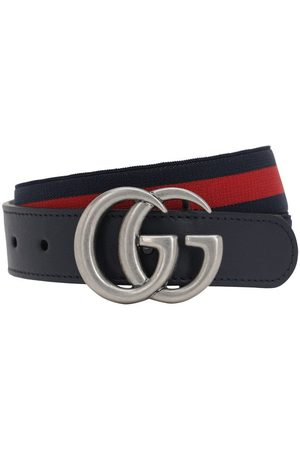 Gucci Girls Belts - Elastic Belt W/ Leather Details