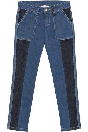 Chloé Two-tone skinny jeans