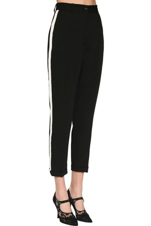 Dolce & Gabbana Women Stretch Pants - Straight Leg Stretch Cady Pants