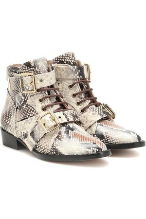 Chloé Snake-effect leather ankle boots