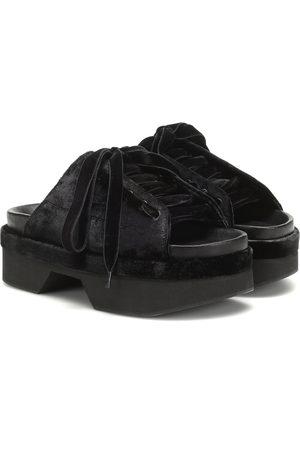 Simone Rocha Velvet sandals