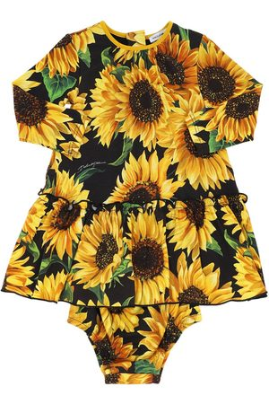 Dolce & Gabbana Sunflower Print Modal Dress W/ Diaper