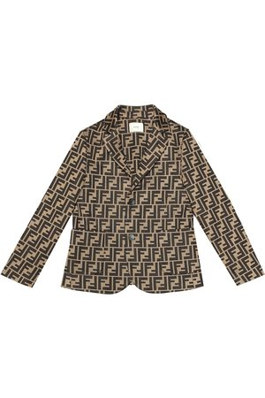 Fendi Logo cotton blend blazer