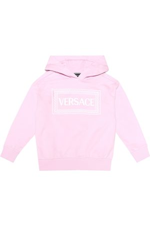 VERSACE Logo cotton-jersey hoodie