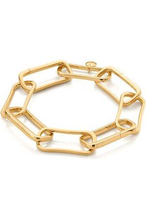 Monica Vinader Women Bracelets - Gold Alta Capture Large Link Charm Bracelet