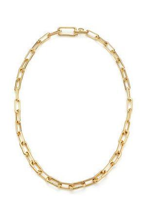 Monica Vinader Gold Alta Capture Charm Necklace