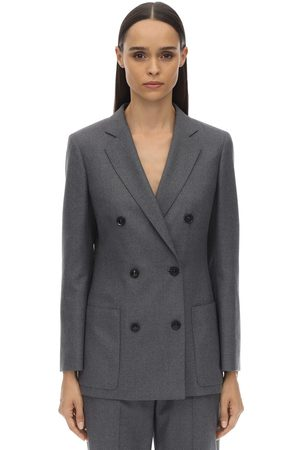 Agnona Double Breasted Virgin Wool Blazer