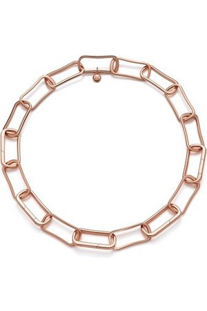 Monica Vinader Rose Gold Alta Capture Large Link Necklace