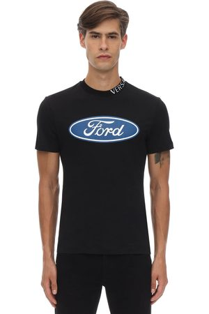 VERSACE Ford Logo Taylor Fitted Cotton T-shirt