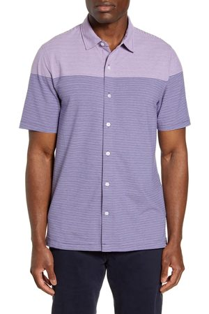 Cutter & Buck Men's Classic Fit Stripe Short Sleeve Button-Up Sport Shirt
