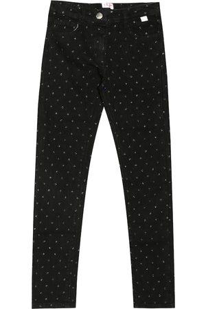 Il gufo Polka-dot skinny jeans