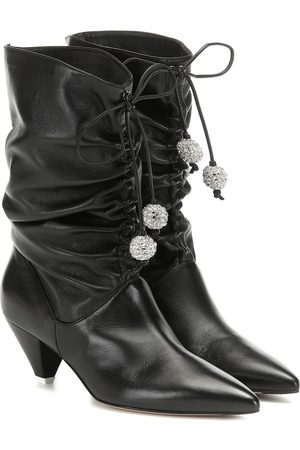 The Attico Crystal-embellished leather boots