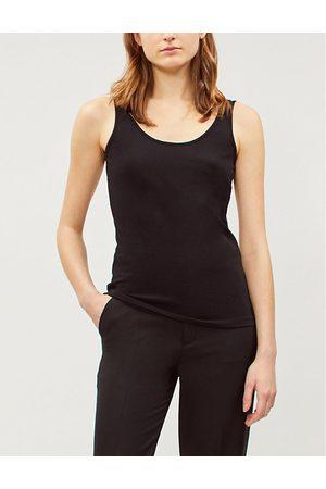 The White Company Women Tank Tops - Ladies Reversible Stretch-Cotton Vest