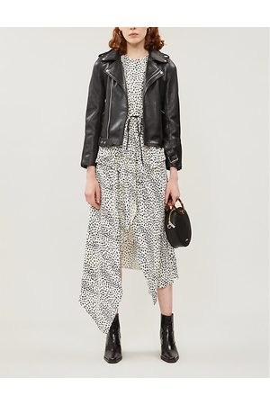 Maje Bocelix epaulettes leather jacket