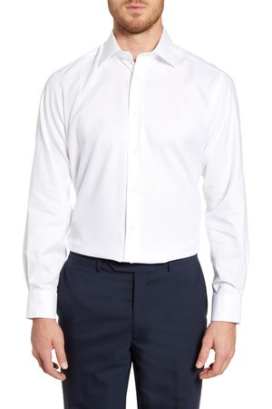 David Donahue Men's Regular Fit Oxford Dress Shirt