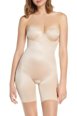 SPANXR Women's Spanx Suit Your Fancy Strapless Cupped Mid-Thigh Shaper Bodysuit