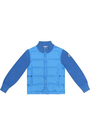 Moncler Quilted down and wool-blend jacket