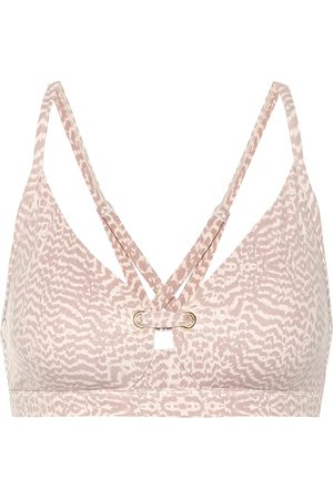Varley Lindley snake-print sports bra