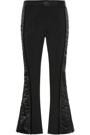 MUGLER Side-striped slim crêpe pants