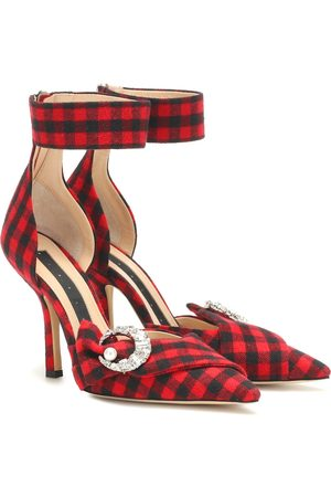 Midnight 00 Corset checked pumps
